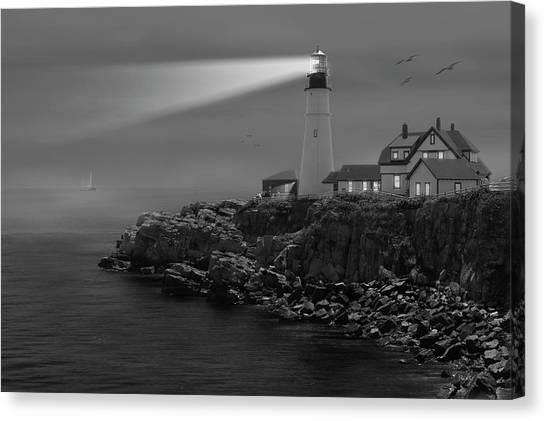 Portland Lighthouse Canvas Print - Portland Head Lighthouse by Mike McGlothlen