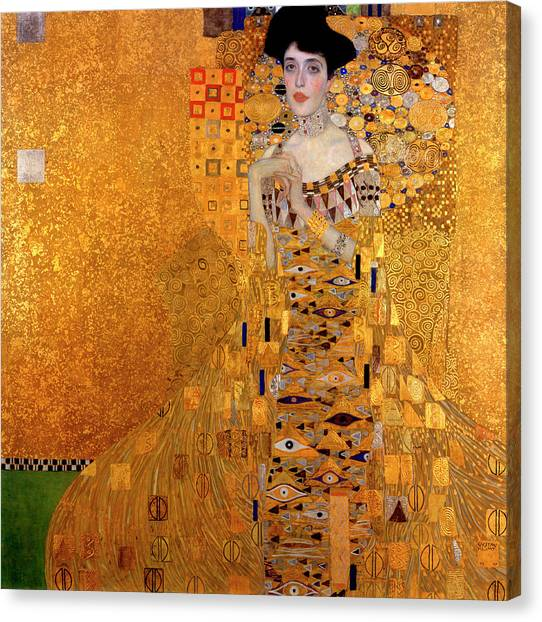 Adele Canvas Print - Portrait Of Adele Bloch-bauer by Gustav Klimt