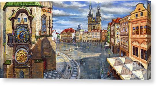 Town Canvas Print - Prague Old Town Squere by Yuriy Shevchuk