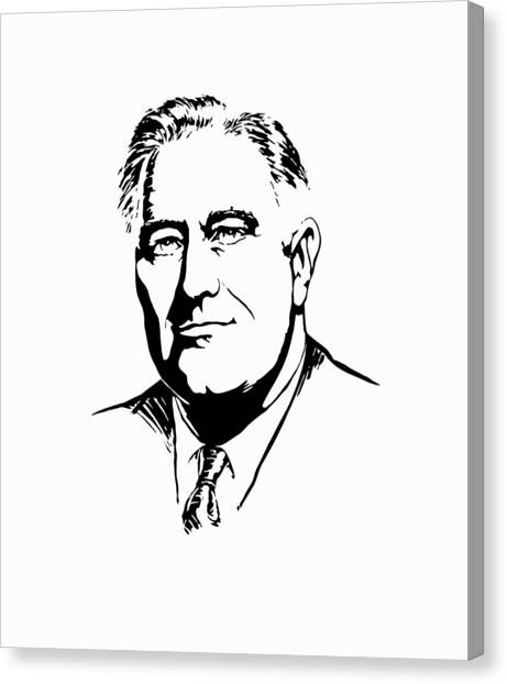 Democratic Canvas Print - President Franklin Roosevelt Graphic by War Is Hell Store