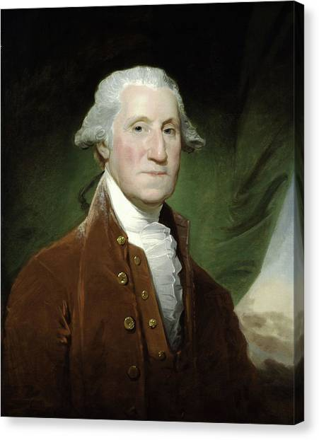 George Washington Canvas Print - President George Washington by War Is Hell Store