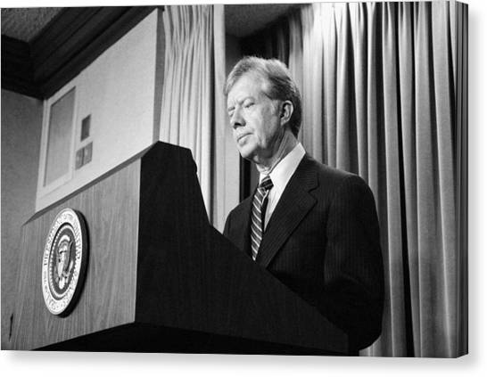 Democratic Presidents Canvas Print - President Jimmy Carter by War Is Hell Store