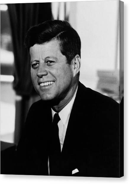 History Canvas Print - President Kennedy by War Is Hell Store