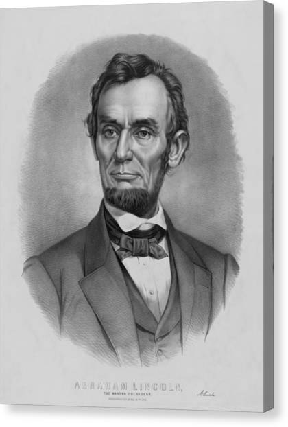 Politician Canvas Print - President Lincoln by War Is Hell Store