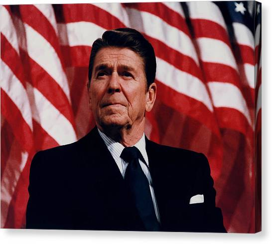 History Canvas Print - President Ronald Reagan by War Is Hell Store