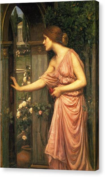 Pre-raphaelite Art Canvas Print - Psyche Entering Cupid's Garden by John William Waterhouse