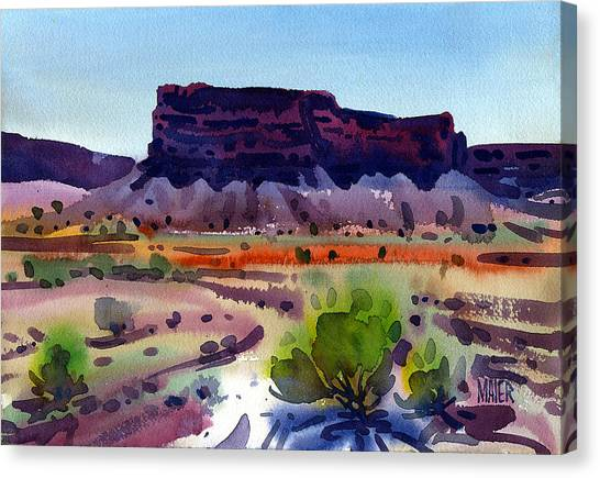 Purple Butte Canvas Print by Donald Maier