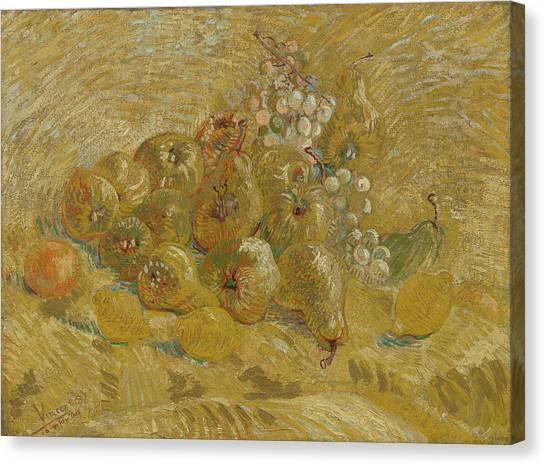 Post-modern Art Canvas Print - Quinces, Lemons, Pears And Grapes by Vincent van Gogh