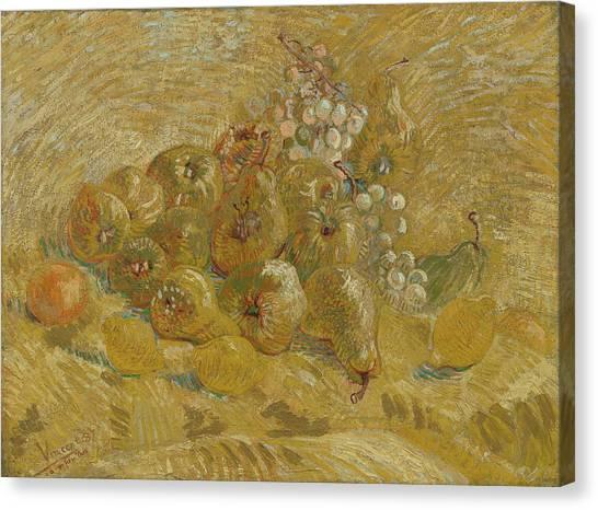 Blackberries Canvas Print - Quinces, Lemons, Pears And Grapes by Vincent van Gogh