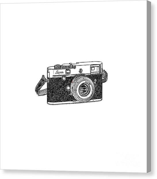 Vintage Camera Canvas Print - Rangefinder Camera by Setsiri Silapasuwanchai