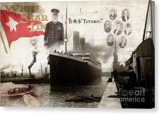 Cruise Ships Canvas Print - Rms Titanic by Jon Neidert