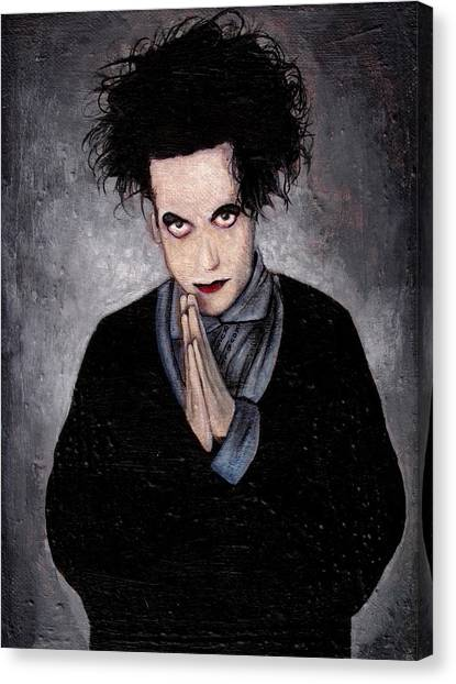 Robert Smith Music Canvas Print - Robert Smith by Rouble Rust