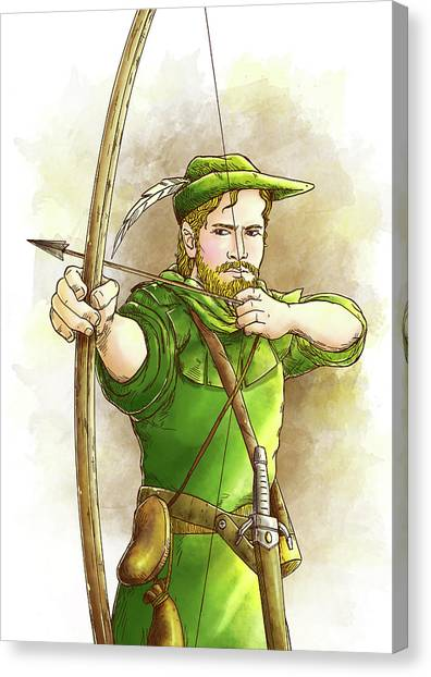 Robin Hood The Legend Canvas Print
