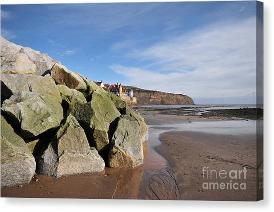 Robin Canvas Print - Robin Hoods Bay by Smart Aviation
