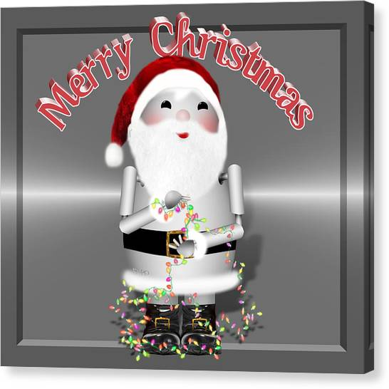 Santa Claus Canvas Print - Robo-x9 Wishes A Merry Christmas by Gravityx9 Designs