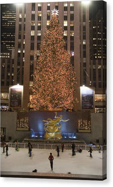 Mall Canvas Print - Rockefeller Center And The Famous by Taylor S. Kennedy