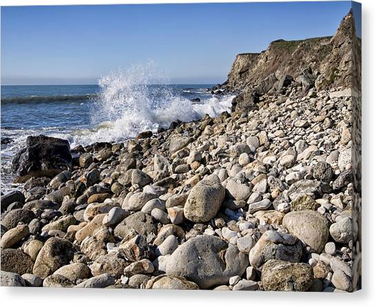 Rocky Bay Canvas Print by Shirley Mitchell