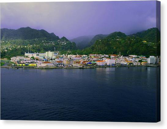 Roseau Dominica Canvas Print