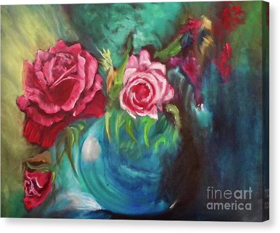 Roses One Of A Kind Handmade Canvas Print
