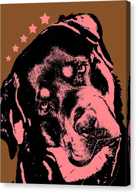 Rottweilers Canvas Print - Rottweiler  by Dean Russo Art