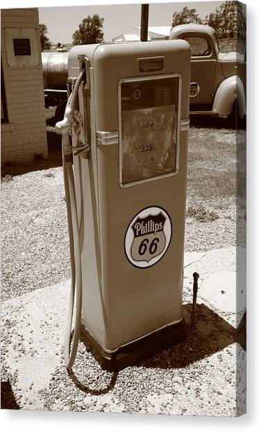 Route 66 Gas Pump Canvas Print