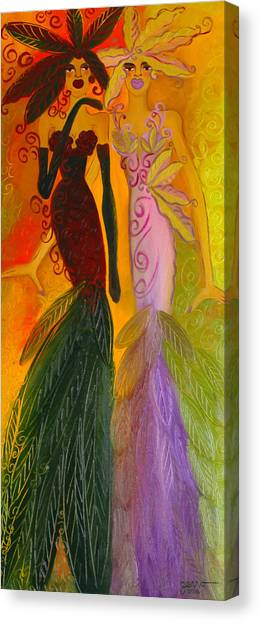 Ruby And April  Canvas Print by Helen Gerro
