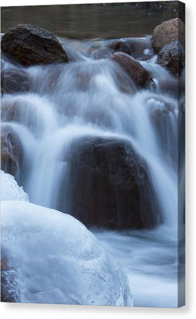 Running Stream Canvas Print by Maureen Bates