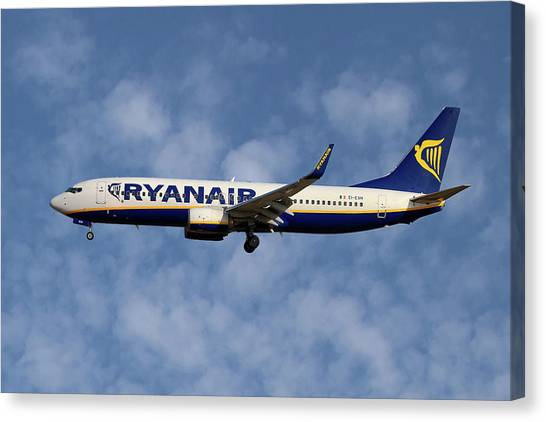 Airlines Canvas Print - Boeing 737 Ryanair by Smart Aviation