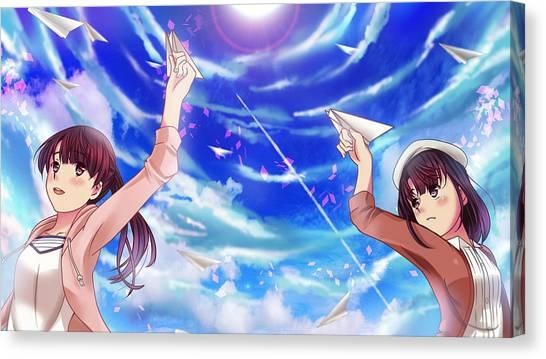 Sea Canvas Print - Saekano How To Raise A Boring Girlfriend by Tatiania Laning