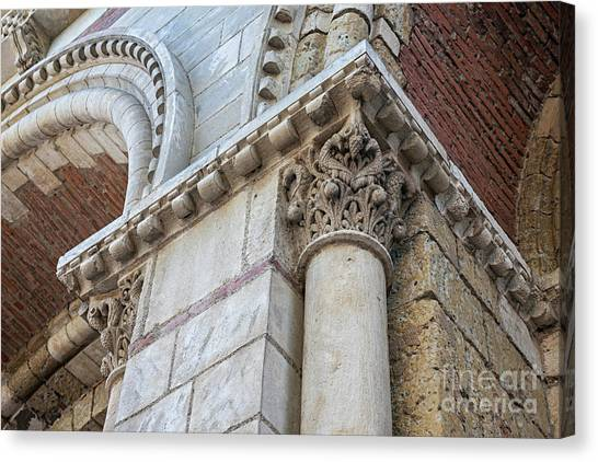 Architectural Detail Canvas Print - Saint Sernin Basilica Architectural Detail by Elena Elisseeva