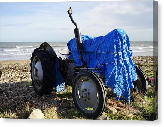 Tractors Canvas Print - Saltburn On Sea by Smart Aviation