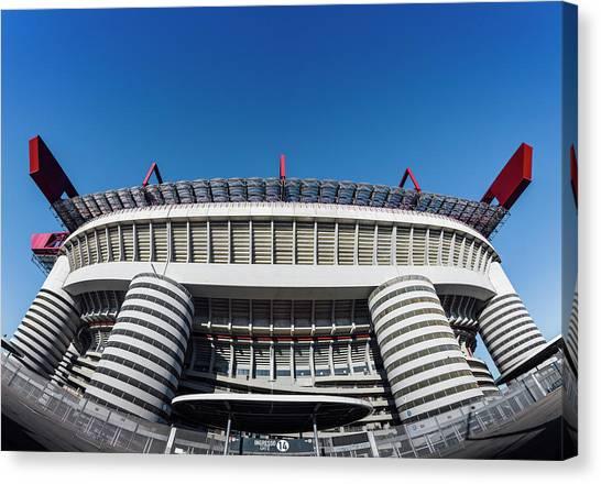 Serie A Canvas Print - San Siro Football Stadium - Milan, Lombardy, Italy by Alexandre Rotenberg