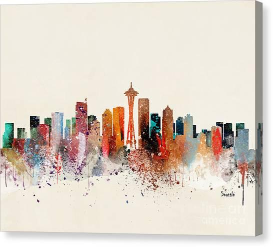 Seattle Skyline Canvas Print by Bri Buckley