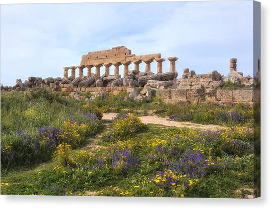 The Acropolis Canvas Print - Selinunte - Sicily by Joana Kruse