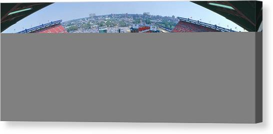 Pitching Canvas Print - Shea Stadium, Ny Mets V. Sf Giants, New by Panoramic Images