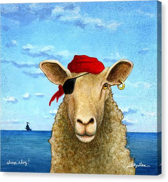 Sheep Canvas Print - Sheep Ahoy by Will Bullas
