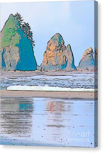 Shi Shi Beach Canvas Print by Lisa Dunn