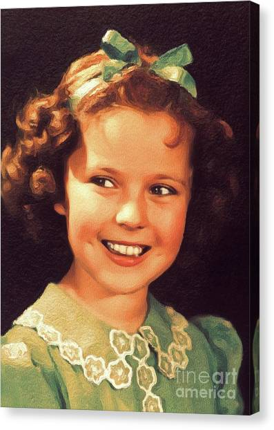 Shirley Temple Canvas Print - Shirley Temple, Vintage Hollywood Actress by John Springfield