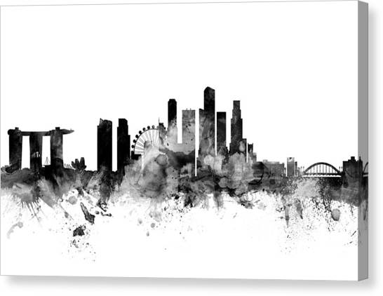 Singapore canvas print singapore skyline by michael tompsett
