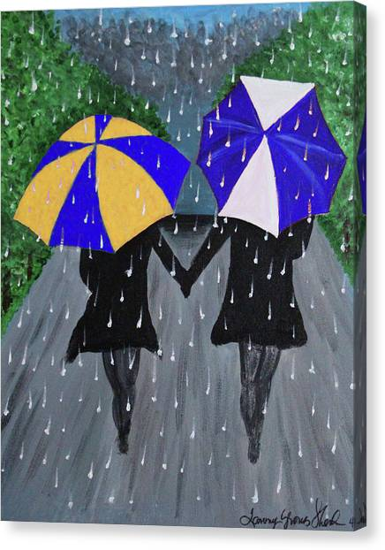 Kappa Sigma Canvas Print - Sisterly Love by Tammy Groves Thornton