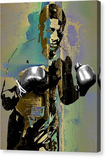 Joe Frazier Canvas Print - Smokin Joe Frazier Collection by Marvin Blaine