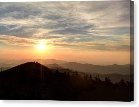 Smoky Mountain Sunset Canvas Print