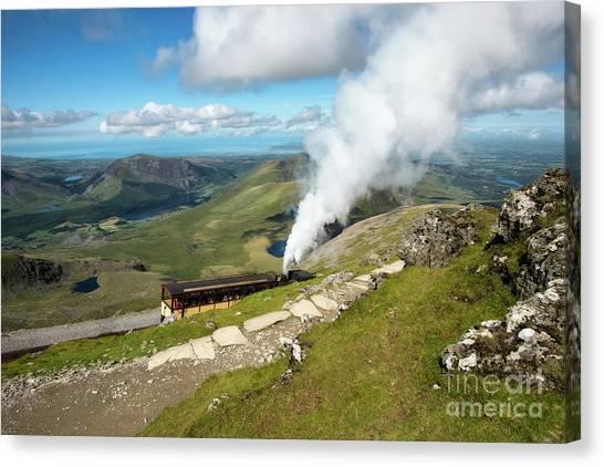 Pinion Canvas Print - Snowdon Mountain Railway by Adrian Evans