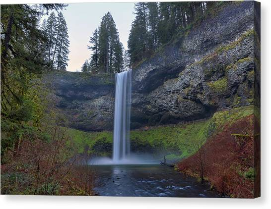 Canvas Print - South Falls At Silver Falls State Park by David Gn