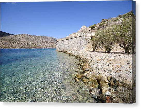 Greek Art Canvas Print - Spinalonga by Smart Aviation