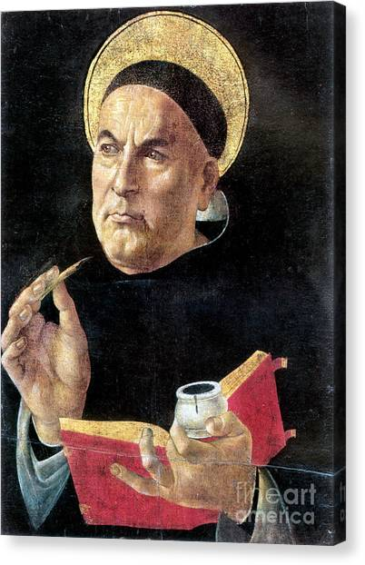 Botticelli Canvas Print - St. Thomas Aquinas by Granger