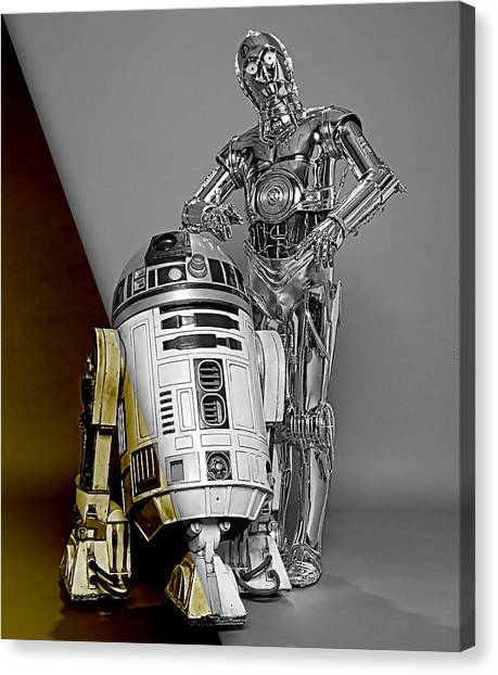Science Fiction Canvas Print - Star Wars C3po And R2d2 Collection by Marvin Blaine