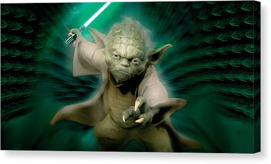 Chewbacca Canvas Print - Star Wars Episode II - Attack Of The Clones 2002 by Geek N Rock