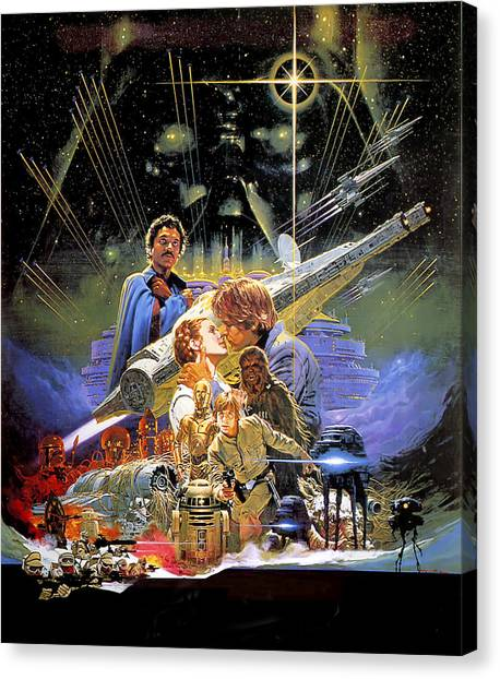 Yoda Canvas Print - Star Wars Episode V - The Empire Strikes Back 1980 by Geek N Rock