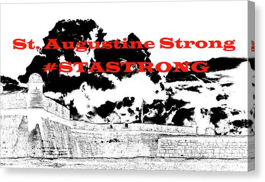 #stastrong Canvas Print